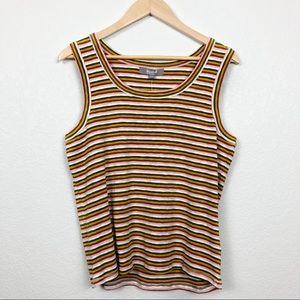 Marled Essentials | Colorful Striped Tank Top